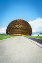 Cern geneva modern building glob in switzerland photo taken on june Stock Photos