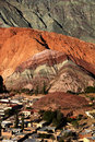 Cerro de siete colores in northwest Argentina Royalty Free Stock Photo