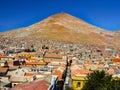 Cerro Rico Mountain above Potosi in Bolivia Royalty Free Stock Photo