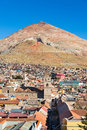 Cerro Rico over Potosi, Bolivia Royalty Free Stock Photo
