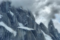 Cerro torre summit in los glacares national park argentina Stock Photography