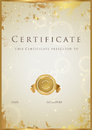 Zlato osvedčenie / diplom cena šablóna