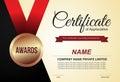 Certificate of appreciation design template