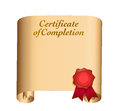 Certificate of completion illustration design over white Royalty Free Stock Photos