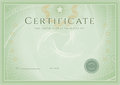 Certificate / Diploma award template. Grunge patte Royalty Free Stock Photo