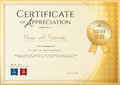 Certificate template for achievement, appreciation or completion Royalty Free Stock Photo