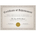 Certificate template with calligraphic element vector Royalty Free Stock Images