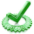Certified in the design of information related to business and confirmation Royalty Free Stock Photo