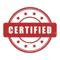 Certified grunge rubber stamp Royalty Free Stock Photo