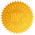 Certified icon Royalty Free Stock Photos
