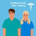 Certified nurse aide training concept vector illustration of healthcare Stock Images