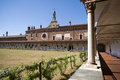 Certosa di pavia italian monastery courtyard of the is a and complex in lombardy northern italy situated near a small town of the Royalty Free Stock Image