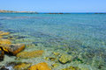 Cerulean bay in paphos cyprus Stock Photos