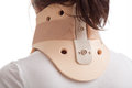 Cervical collar the correct way to put on Stock Photography