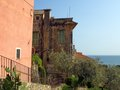 Cervo landscape in imperia italy a typical ligurian village facing the ocean Royalty Free Stock Photos
