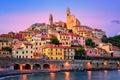 Cervo on mediterranean coast of Liguria, Italy Royalty Free Stock Photo