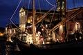 Cesenatico porto canale emilia romagna italy river sea boats light adriatico statues reflection Royalty Free Stock Image