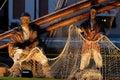 Cesenatico porto canale emilia romagna italy river sea boats light adriatico statues reflection Royalty Free Stock Photos