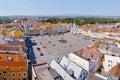 2015-07-04 - Ceske budejovice city, Czech republic - Namesti Premysla Otakara II. square in Ceske Budejovice (Budweis) Royalty Free Stock Photo