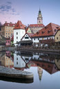 Cesky kromlov czech republic image of krumlov located in southern at sunset Royalty Free Stock Photos