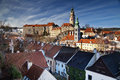 Cesky kromlov czech republic image of krumov and krumlov castle Stock Photo