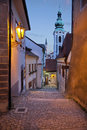 Cesky kromlov czech republic image of old town krumlov at twilight Royalty Free Stock Photo