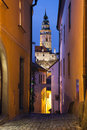 Cesky kromlov czech republic image of old town krumlov at twilight Royalty Free Stock Image