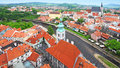 Cesky krumlov czech republic aerial view of Stock Photo