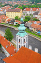 Cesky krumlov czech republic aerial view of Royalty Free Stock Photos