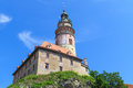 Cesky krumlov krumau castle and tower unesco world heritage s site Royalty Free Stock Photos