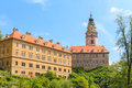 Cesky krumlov krumau castle and tower unesco world heritage s site Stock Images