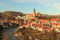 Cesky Krumlov in winter Royalty Free Stock Photo