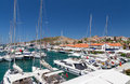 Cesme marina and castle view turkey is a coastal town the administrative centre of the district of the same name in s westernmost Royalty Free Stock Photo