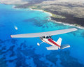 Cessna cruising Royalty Free Stock Photo