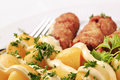 Cevapcici and potatoes Royalty Free Stock Image