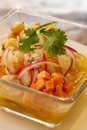 Ceviche peruano seafood close up Royalty Free Stock Photos