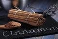 Ceylon Cinnamon sticks and powder Royalty Free Stock Photo