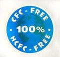 CFC 100% del segno, HCFC-libero Immagine Stock