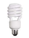 CFL Fluorescent Light Bulb isolated on white Royalty Free Stock Photo