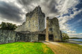 Château de Ross en Irlande Photos stock