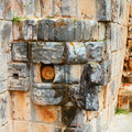 Chac mask mayan god of rain uxmal mexico Royalty Free Stock Photography