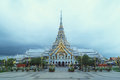 Chachoengsao thailand june the front of wat sothorn warar wararam woraviharn temple in on Stock Photo