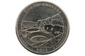 Chaco New Mexico Quarter Coin Stock Image