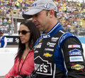 Chad knaus crew chief nascar sprint cup series number chevrolet five time champion jimmie johnson walks to race car start subway Royalty Free Stock Images