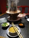 Chafing dish fine food delicacy Royalty Free Stock Photo