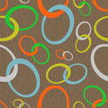 Chain abstract seamless retro pattern made of looking ovals Stock Photo