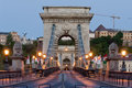 Chain Bridge and Buda Castle, Budapest Royalty Free Stock Photo