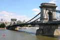 Chain bridge in Budapest, Hungary Royalty Free Stock Images