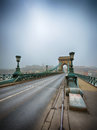 Chain Bridge in Budapest, Hungary Stock Images