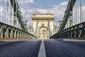 Chain bridge in Budapest, Hungary Royalty Free Stock Photo